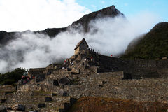 Foggy machu pichu Stock Photography
