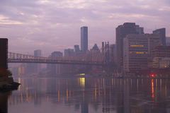The foggy Manhattan in early morning Stock Photo