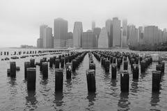 Foggy New York City Royalty Free Stock Image