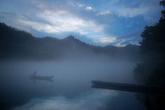 Foggy Morning Along Lost River Royalty Free Stock Photos