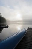 Foggy morning at the cottage Royalty Free Stock Image