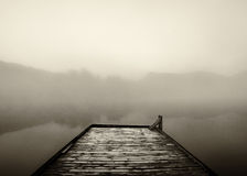 Foggy morning dock Royalty Free Stock Images