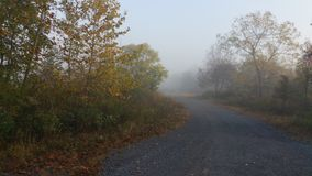 Foggy morning. Erie drive to the fishing spot Royalty Free Stock Photos