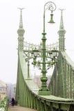 Foggy morning. Freedom Bridge in Budapest, Hungary Stock Images
