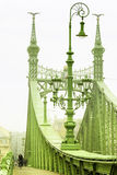 Foggy morning. Freedom Bridge in Budapest, Hungary Royalty Free Stock Photography