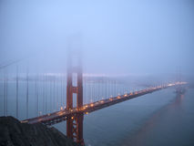 Foggy morning at Golden Gate Bridge Stock Image