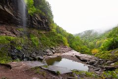 Foggy Morning at Kaaterskill Falls stock photos