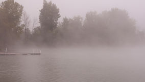 Foggy Morning at the Lake Royalty Free Stock Photos