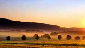 Foggy Morning Landscape Royalty Free Stock Photography