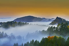 Foggy morning in the landscape Stock Photography