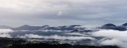 Foggy morning in Lunigiana, Italy Royalty Free Stock Image