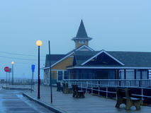 Foggy Morning at Martha`s Vineyard. Early morning walk in the fog at Martha`s Vineyard.  Very cool and crisp, a beautiful place to be Stock Photos