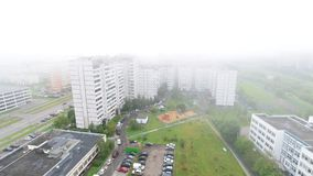 Foggy morning in Moscow, Russia stock video footage