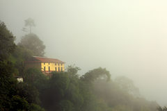 A foggy morning at Nagarkot, Nepal Stock Photos