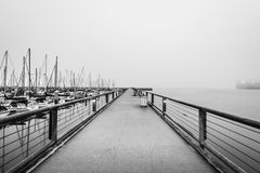 A foggy morning over San Francisco royalty free stock images