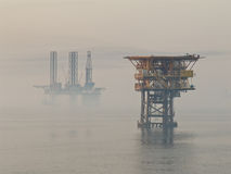 Foggy morning in Persian Gulf Stock Photos