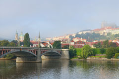 Foggy morning in Prague Stock Photo