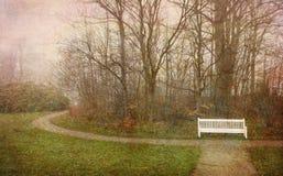 Foggy morning retro Stock Image