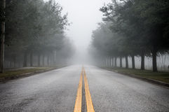 Foggy Morning Road Royalty Free Stock Image