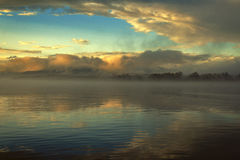 Foggy morning in the sea. Stock Photography