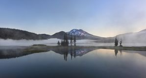 Foggy Morning at Sparks Lake Stock Images