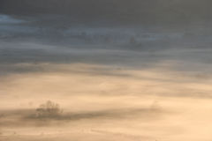 A foggy morning in a top mountain landscape Royalty Free Stock Images