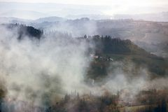 Foggy morning at the Toscana Stock Images