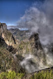 Foggy Mountain. A view from the top of a mountain at Madeira, Portugal Royalty Free Stock Photo