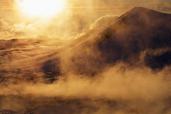 Foggy mountain royalty free stock photography