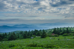 Foggy Mountain as seen from Grassy Ridge Royalty Free Stock Image
