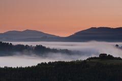 Foggy mountain landscape Royalty Free Stock Photo