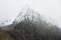 Foggy mountain landscape Stock Images
