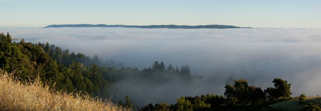 Foggy mountain panorama Royalty Free Stock Photo