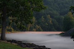 Foggy Mountain River Stock Photos