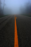 Foggy mountain  road Stock Image