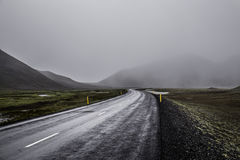 A Foggy Mountain Road Royalty Free Stock Photo
