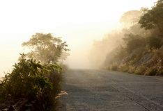 Foggy Mountain Road Stock Images