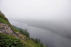 Foggy Mountain Top Stock Photography
