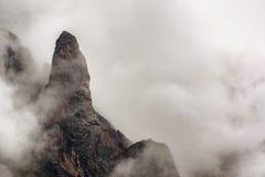 Foggy Mountain View Royalty Free Stock Photos