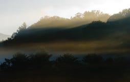 Foggy mountain views at sunrise Royalty Free Stock Photo