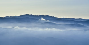 Foggy Mountains Stock Photos