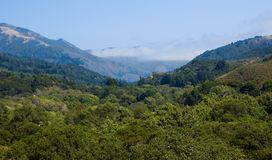 Foggy mountains. In Big Sur California Stock Image