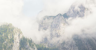 Foggy mountains in the alps Stock Photography