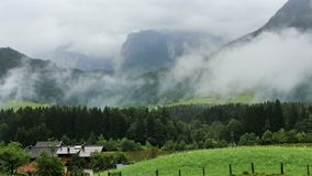 Foggy mountains in Austria Maurach time-lapse stock video footage