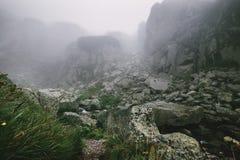 Foggy mountains landscape - High Tatra Mountains, Slovak Republic royalty free stock photos