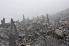 Foggy mountains stock photos