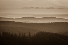Foggy mountains Royalty Free Stock Photo