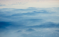 Foggy mountains in vietnam Stock Photos