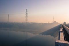 Foggy mystic morning Stock Photography