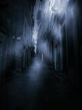 Foggy narrow street Stock Image